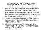 independent increments