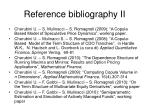 reference bibliography ii