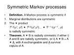 symmetric markov processes