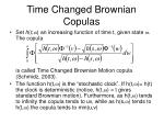 time changed brownian copulas