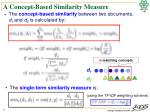a concept based similarity measure