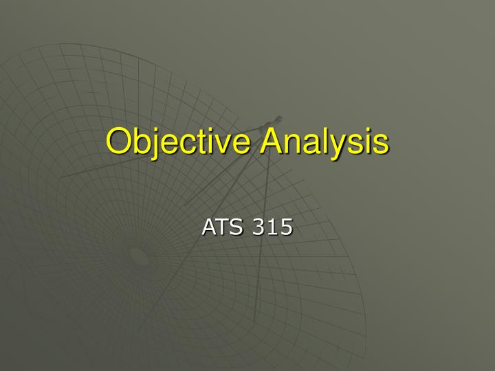 objective analysis n.