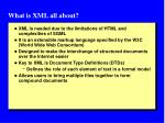 what is xml all about