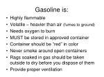 gasoline is