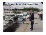 safety around automobiles