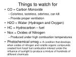things to watch for