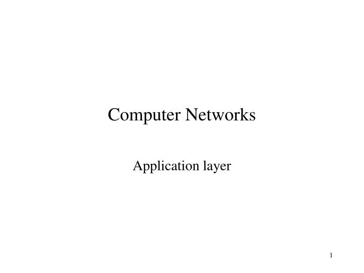 computer networks n.