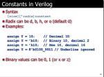constants in verilog