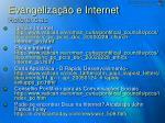evangeliza o e internet refer ncias