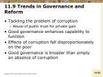 11 9 trends in governance and reform