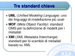 tre standard chiave