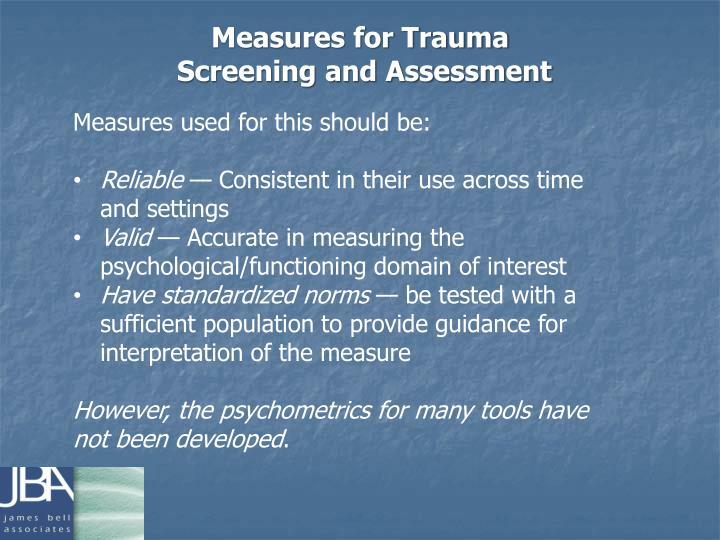 Measures for Trauma