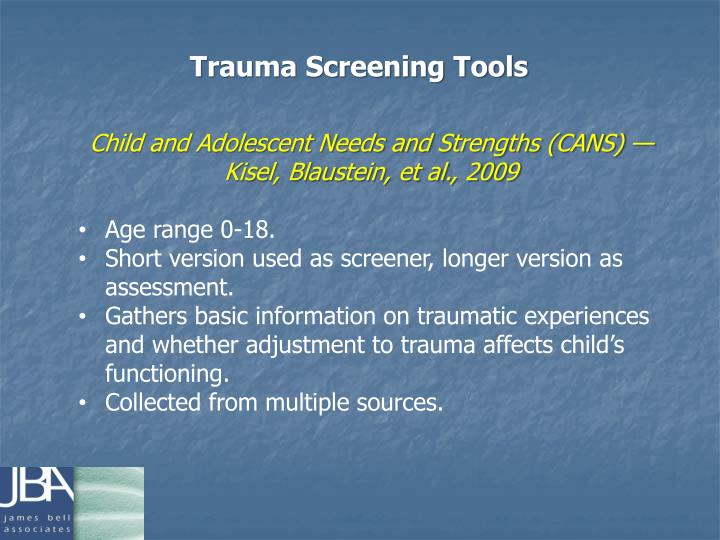 Trauma Screening Tools