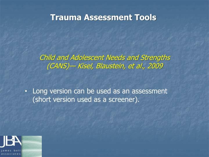 Trauma Assessment Tools
