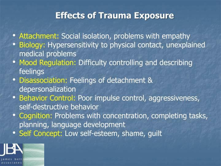 Effects of Trauma Exposure