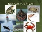 non kosher sea food