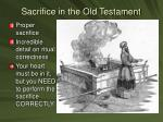 sacrifice in the old testament