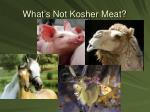 what s not kosher meat