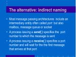 the alternative indirect naming