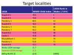 target localities