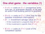 one shot game the variables 1