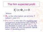 the firm expected profit