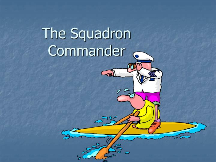 the squadron commander n.