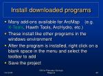 install downloaded programs