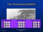 the mixed pixel problem