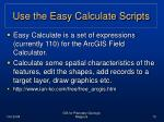 use the easy calculate scripts