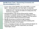 nwhin power team overarching comments and recommendations 1 of 2