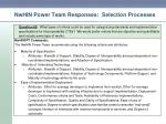 nwhin power team responses selection processes4