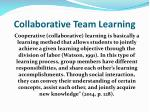 collaborative team learning