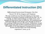 differentiated instruction di