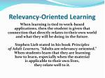 relevancy oriented learning