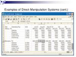 examples of direct manipulation systems cont2