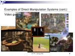 examples of direct manipulation systems cont3