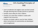 ca s guiding principles of far