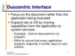 duocentric interface