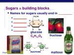 sugars building blocks