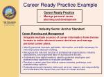 career ready practice example
