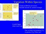 variation within species5