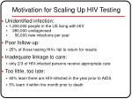 motivation for scaling up hiv testing