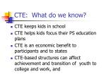 cte what do we know