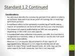 standard 1 2 continued
