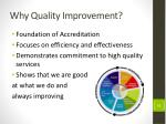 why quality improvement