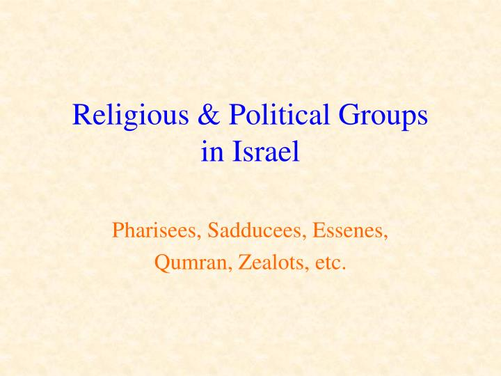 religious political groups in israel n.