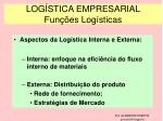 log stica empresarial fun es log sticas