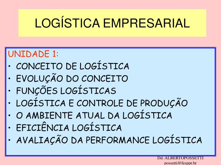 log stica empresarial n.
