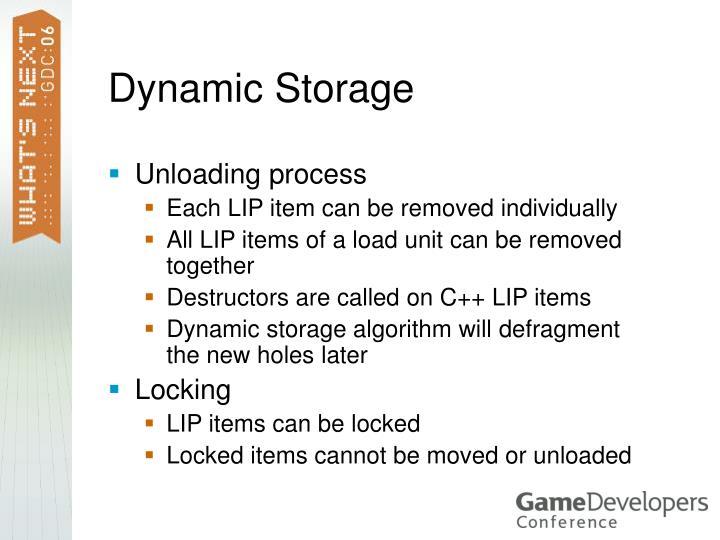 Dynamic Storage